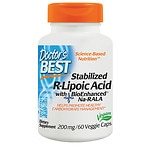 Doctor's Best Stabilized R-Lipoic Acid, 200mg, Veggie Caps- 60 ea