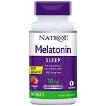Natrol Melatonin 10 mg, Fast Dissolve Tabs, Strawberry