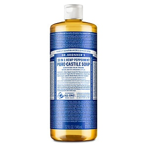 Dr. Bronner's 18-IN-1 Hemp Pure-Castile Soap, Peppermint- 32 fl oz