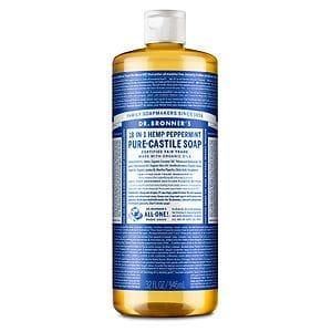 Dr. Bronner's 18-IN-1 Hemp Pure-Castile Soap, Peppermint