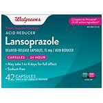Walgreens Lansoprazole 15mg Acid Reducer Capsules