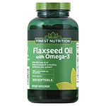 Finest Nutrition Flax Seed Oil 1300 mg Dietary Supplement