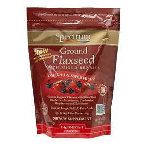 Spectrum Essentials Ground Flaxseed with Mixed Berries- 12 oz