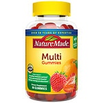 Nature Made Multi Adult Gummies, Orange, Cherry &amp; Mixed Berry