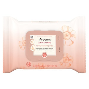Aveeno Ultra Calming Makeup Removing Wipes- 25 ea