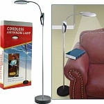 Trademark Home Portable Lamp Stand w/ LED Lights Cordless