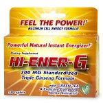 Hi-Ener-G Triple Ginseng Formula, 200mg