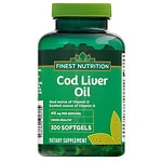 Finest Nutrition Cod Liver Oil Softgels- 300 ea