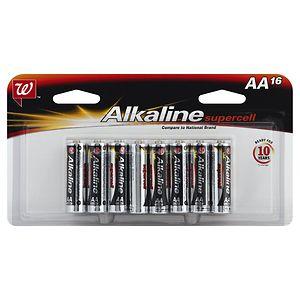 Walgreens Alkaline Supercell Batteries, AA, 16 ea