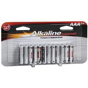 Walgreens Alkaline Supercell Batteries, AAA- 24 ea