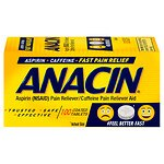 Anacin Pain Reliever Coated, Relief, Tablets- 100 ea