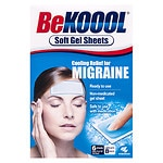 Be Koool Migraine Soft Gel Sheets- 6 Each