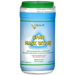 Citrus II CPAP Mask Cleaning Wipes- 62 ea
