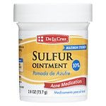 De La Cruz Sulfur Ointment 10% Acne Medication Ointment- 2.6 oz