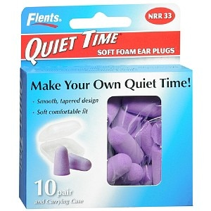 Flents Quiet Time Soft Foam Ear Plugs with Carrying Case- 20 ea