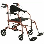 Medline The Combination Transport Chair/Rollator