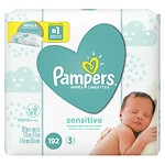 Pampers Stages Sensitive Wipes, Perfume Free, 3 Pack