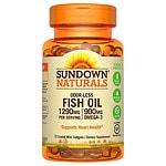 Sundown Naturals Odorless Omega-3 Fish Oil 1,290 mg Dietary