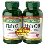 Nature's Bounty Odorless Fish Oil 1200 mg Dietary Supplement Softgels, 2 pk- 200 ea