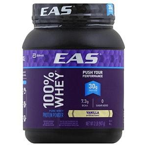 EAS 100% Whey Protein Powder, Vanilla- 2 lb