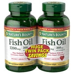 Nature's Bounty Fish Oil 1200 mg Rapid Release Liquid Softgels Twin Pack
