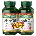 Nature's Bounty Fish Oil 1200 mg Rapid Release Liquid Softgels Twin Pack- 180 ea