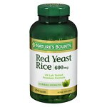 Nature's Bounty Red Yeast Rice 600 mg Dietary Supplement Capsules- 250 ea