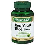 Nature's Bounty Red Yeast Rice 600 mg, Capsules