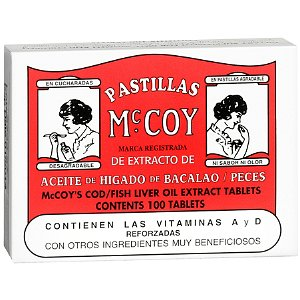 Pastillas McCoy Cod/Fish Liver Oil Extract Dietary Supplement Tablets