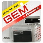 Personna Gem Stainless Steel Single Edge Razor Blades- 10 Each
