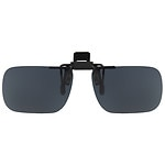 Solar Shield Fits Over Plastic Polarized 54 Rectangle Clip On Flip Up Sunglasses- 1 ea