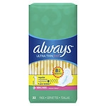 Always Fresh Ultra Thin Active Pads, Regular with Flexi-Wings, Clean Scent- 32 ea