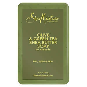 SheaMoisture Olive & Green Tea Shea Butter Soap, 8 Ounces