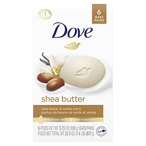 Dove Nourishing Care Shea Butter Beauty Bars 6 Pack&nbsp;