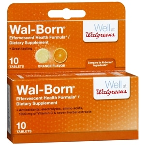 Walgreens Wal-Born Effervescent Dietary Supplement Tablets, 10 Each