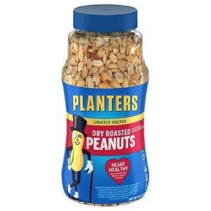Planters Dry Roasted Peanuts, Lightly Salted- 16 oz