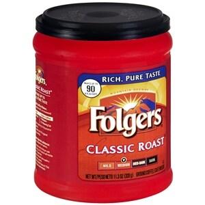 Folgers Classic Roast Ground Coffee- 11.3 Ounces