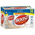 Boost Plus Complete Nutritional Drink, 8 oz Bottles, 12 pk- 8 oz