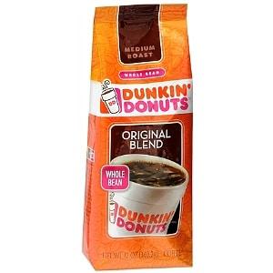Dunkin' Donuts Original Blend Medium Roast Whole Bean Coffee- 12 Ounces