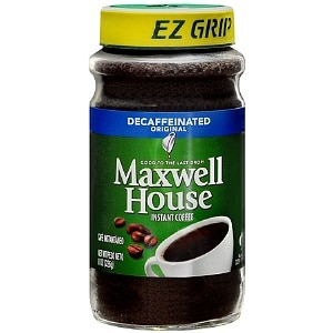Maxwell House Instant Coffee, Decaffeinated Original, 8 oz