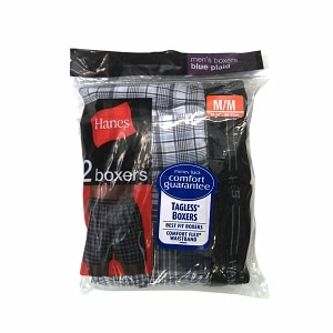 Hanes Men's Boxers, Medium 32-34 inches, 2 ea
