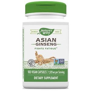 Nature's Way Korean Ginseng Root Vitality Herb, 560 mg, Capsules- 100 ea