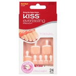 Kiss Everlasting French Toenails Kit, Real Short, White Tip, Pink Bed
