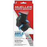 Mueller Adjustable Ankle Stabilizer, Maximum Support, Model 6518, Black, One Size- 1 ea