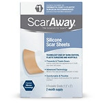 ScarAway Silicone Scar Treatment Sheets, 1.5 x 3 inch