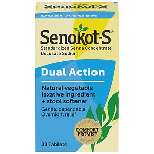 Senokot s natural vegetable laxative stool softener for Does fish oil cause constipation