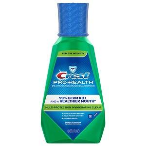 Crest Pro-Health Invigorating Clean Multi-Protection CPC Antigingivitis/Antiplaque Oral Rinse, Invigorating Mint- 33.8 fl oz