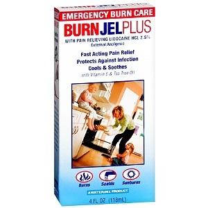 Water Jel Burn Jel Plus External Analgesic Gel- 1 ea