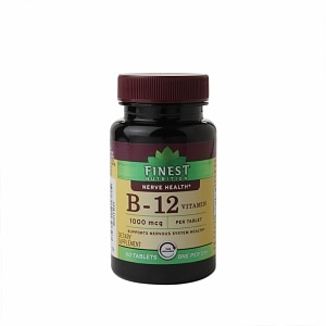 Finest Nutrition Vitamin B12 1000mcg, Tablets- 60 ea