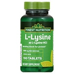Finest Nutrition L-Lysine 500mg, Tablet- 100 ea